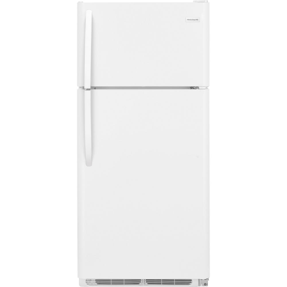Home Depot Fridges Canada Frigidaire 18 Cu Ft Top Freezer Refrigerator In White