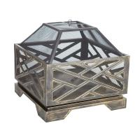 Fire Sense Catalano 26 in. Square Steel Fire Pit-62239 ...