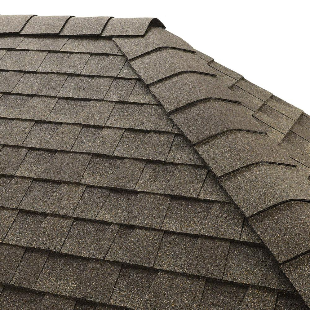 Gaf Roofing Gaf Timbertex Weathered Wood Hip And Ridge Shingles 20 Linear Ft Per Bundle