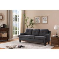 Gray Linen Sofa Meridian Furniture 662gry S Chesterfield ...