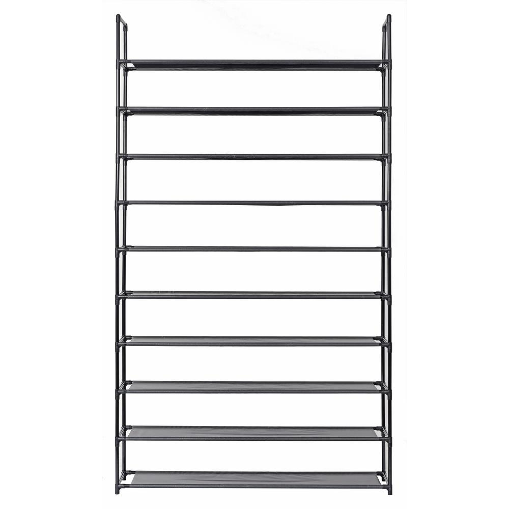 Storage Racks Muscle Rack 50 Pair Black 10 Tier Shoe Storage Rack