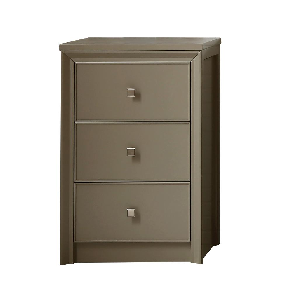 In Cabinet Drawers Martha Stewart Living Parrish 22 1 2 In W 3 Drawer Small Side Unit In Mushroom