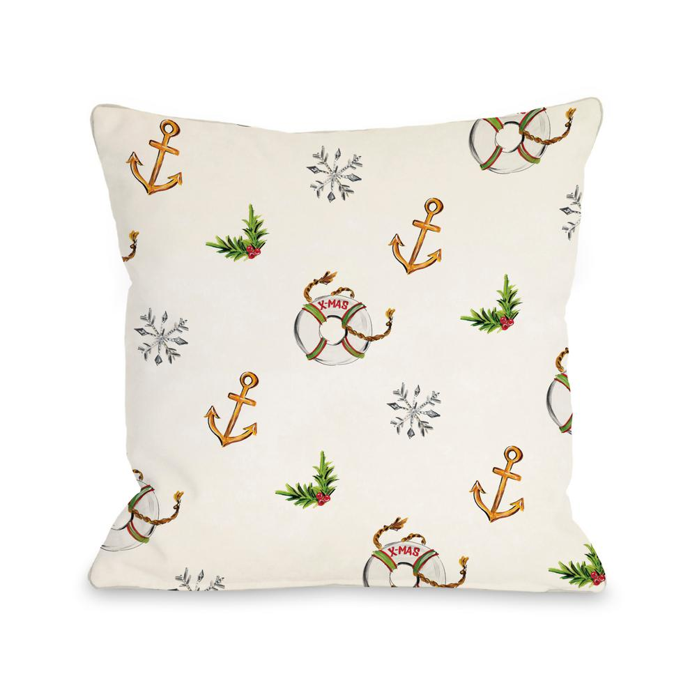 Nautical Sofa Throws Nautical Xmas Pattern 16 In X 16 In Decorative Pillow