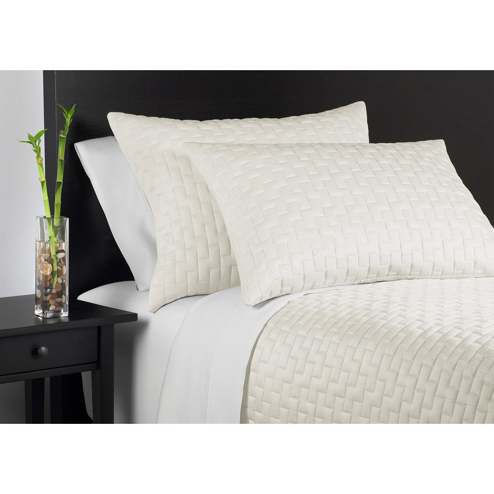 Bed Coverlet Caro Home 100 Rayon From Bamboo Ivory Queen Coverlet Set
