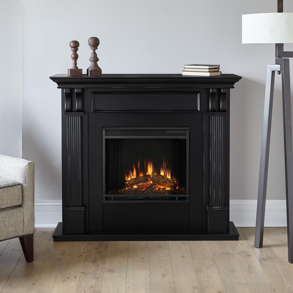 Electric Fireplace.com Real Flame Ashley 48 In Electric Fireplace In Blackwash
