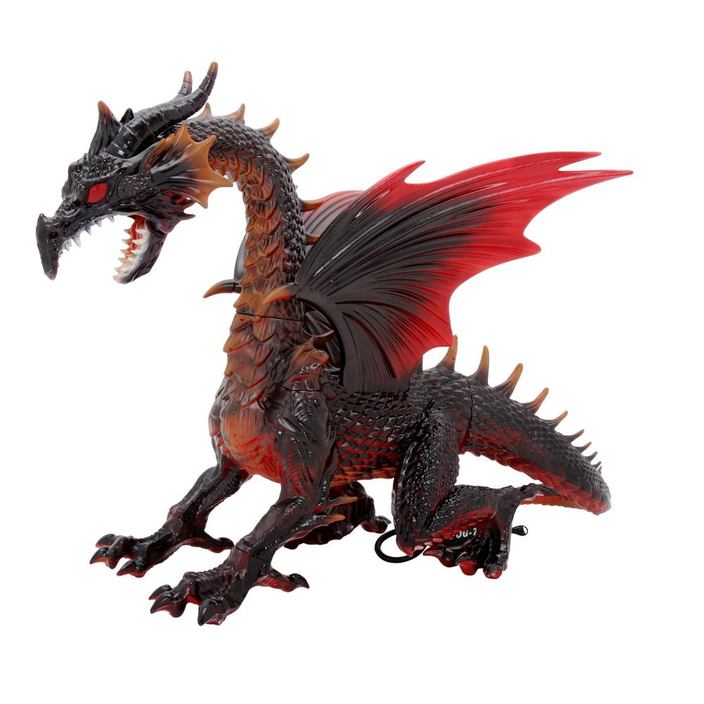 Dragon Décoration Home Accents Holiday 69 In. Animated Dragon With Fogging