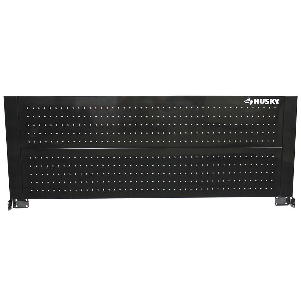 Mobile De24 Husky 52 In Pegboard Back Wall For Tool Cabinet Black