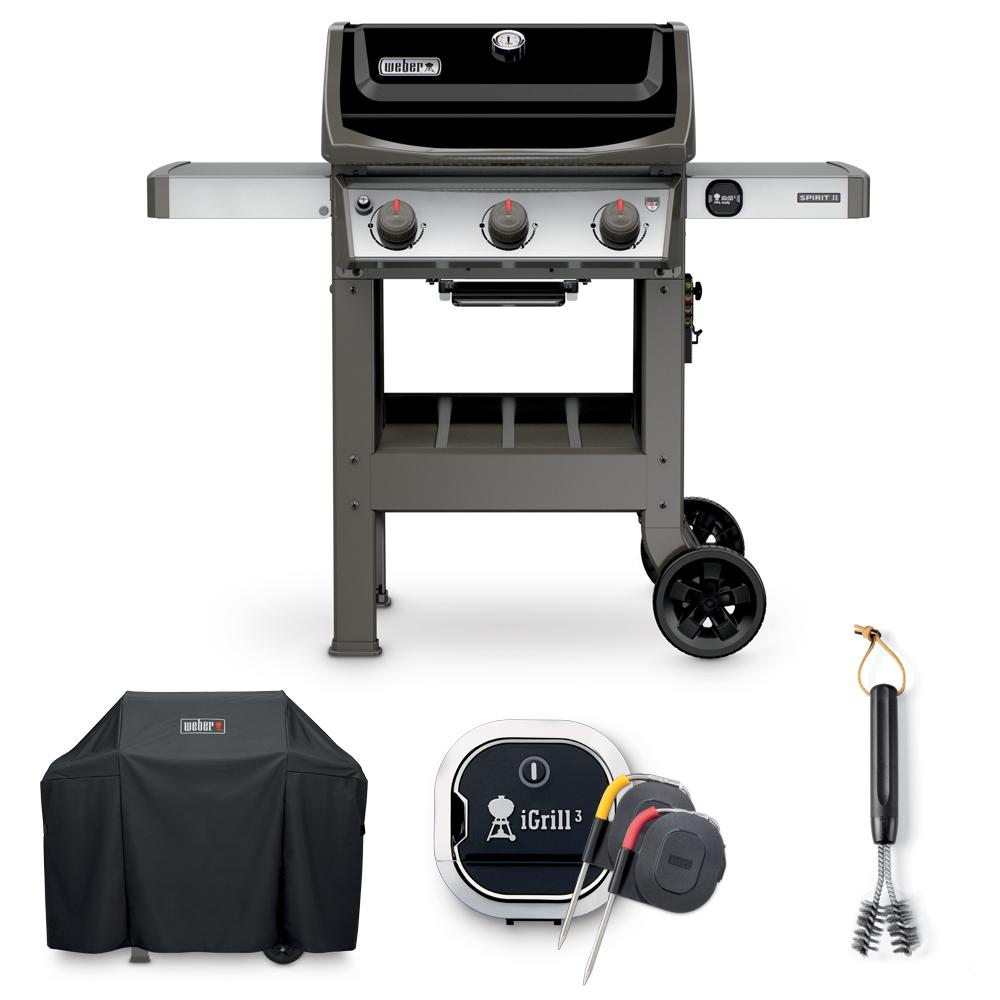 Weber Grill Spirit E 310 Weber Spirit Ii E 310 Liquid Propane Grill Combo With Grill Brush Cover And Igrill 3 Thermometer