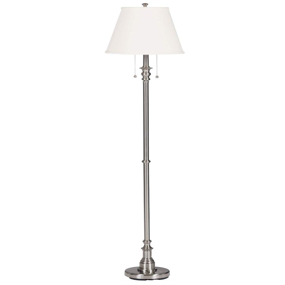 Fancy Standing Lamps Spyglass 60 In Brushed Steel Floor Lamp