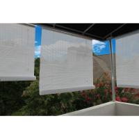 120 in. W x 72 in. L White Exterior Roll Up Patio Sun ...