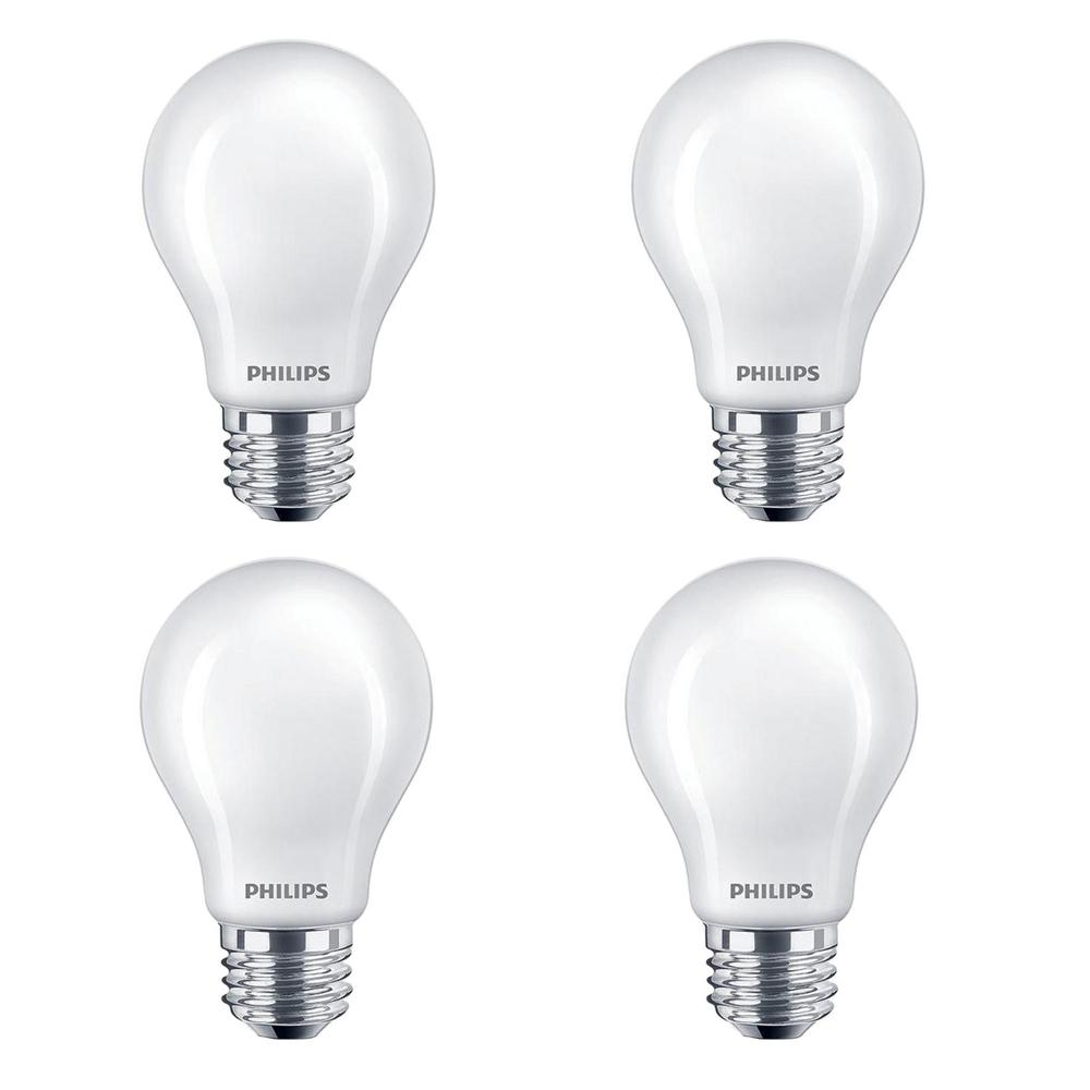 40 Watt Led Philips 40 Watt Equivalent A19 Non Dimmable Energy Saving Frosted Classic Glass Led Light Bulb Soft White 2700k 4 Pack