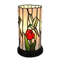 Amora Lighting 10 in. Tiffany Style Dragonfly Mini Table
