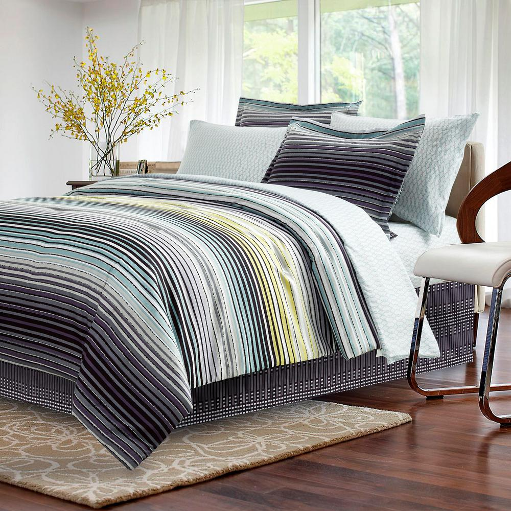 Charcoal Bedding Sets Brown Grey Strata Dark 8 Piece Charcoal Queen Bed In Bag Set