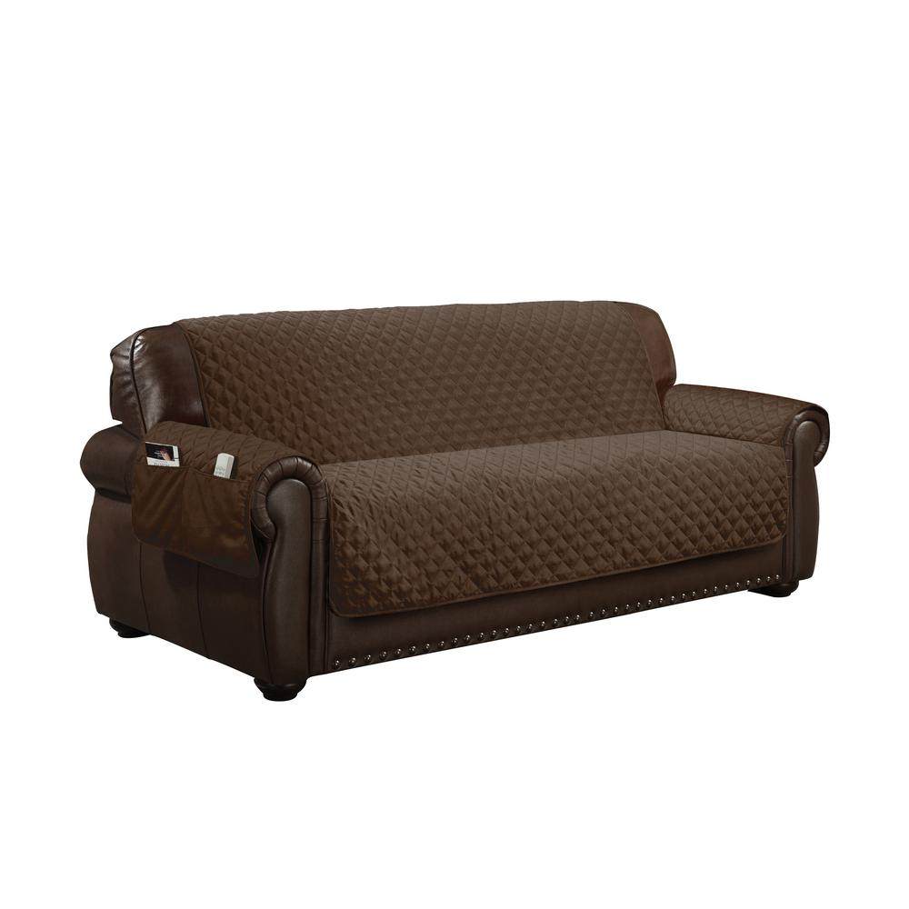 Fitted Slipcovers Couches Wallace Water Resistant Chocolate Fit Polyester Fit Sofa Slip Cover