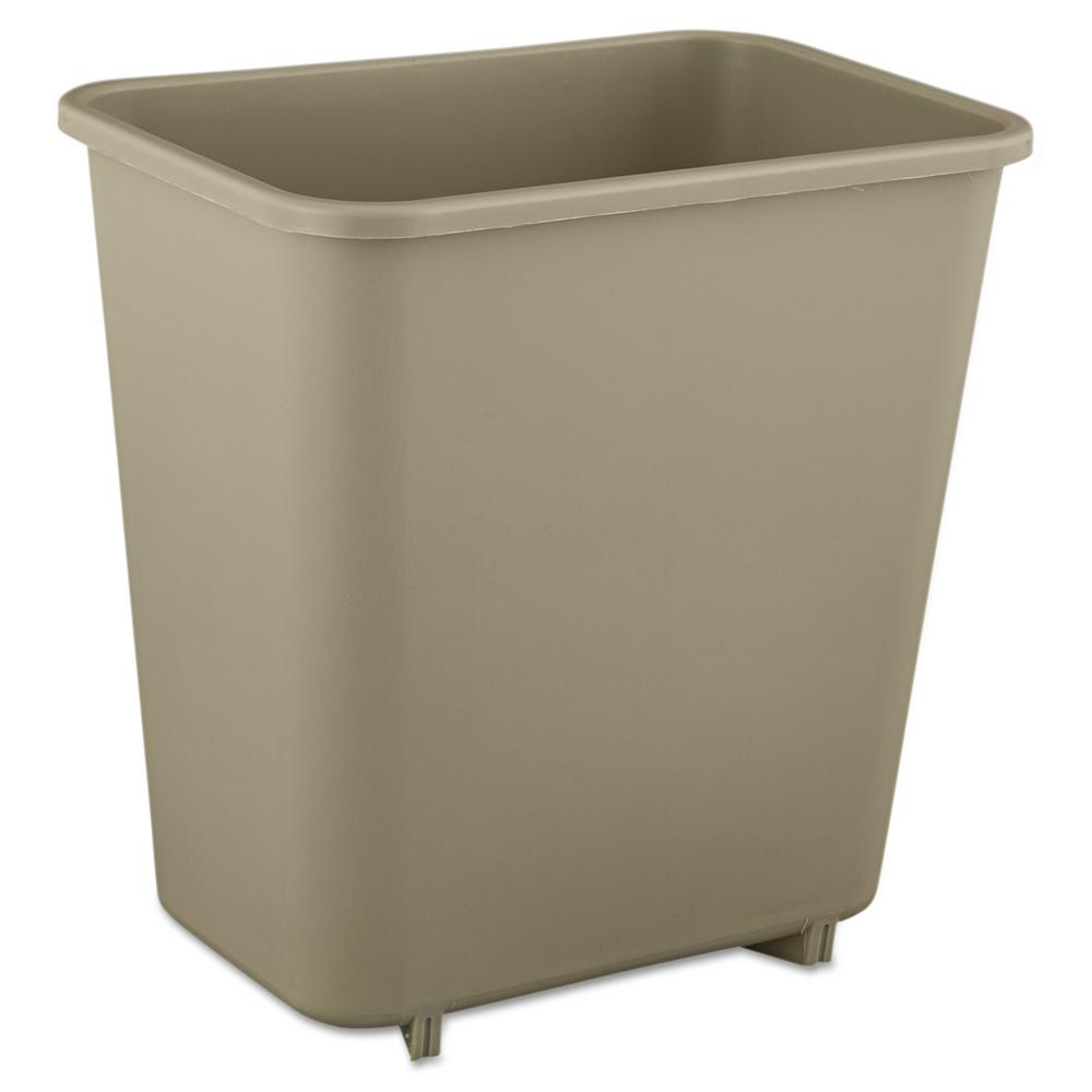 Laundry Trash Cans Rubbermaid Commercial Products 2 Gal Beige Rectangular Trash Can