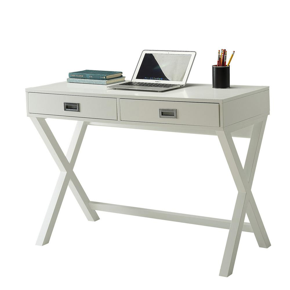 Desks With Drawers Designs2go White Landon Desk With Drawers