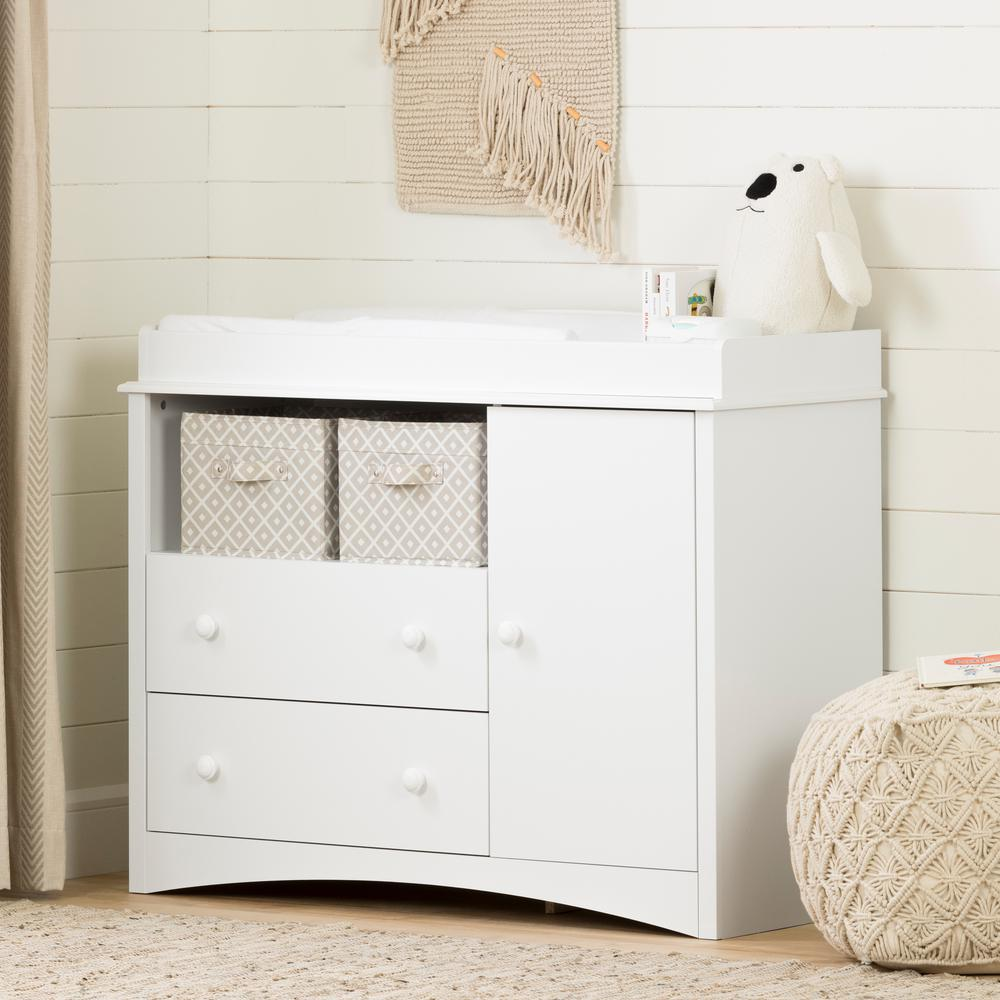 Changing Table Chest Of Drawers South Shore Peek A Boo 2 Drawer Pure White Changing Table 2280331