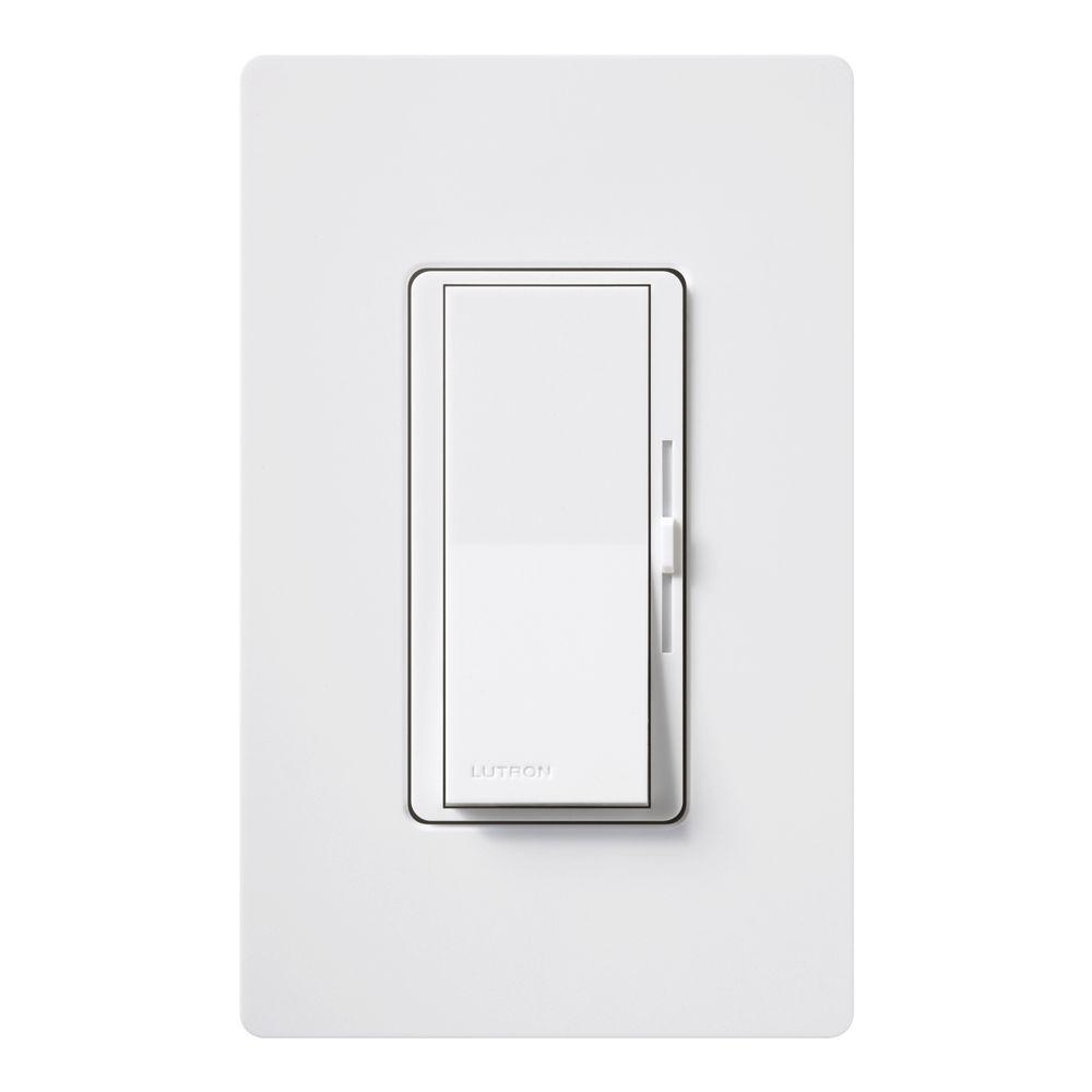 Dimmer Switch Lutron Diva C L Dimmer Switch For Dimmable Led Halogen And Incandescent Bulbs Single Pole Or 3 Way With Wallplate White