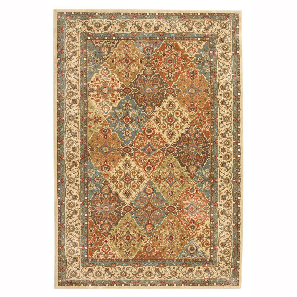 Asian Carpet Persia Almond Buff 8 Ft X 10 Ft Indoor Area Rug