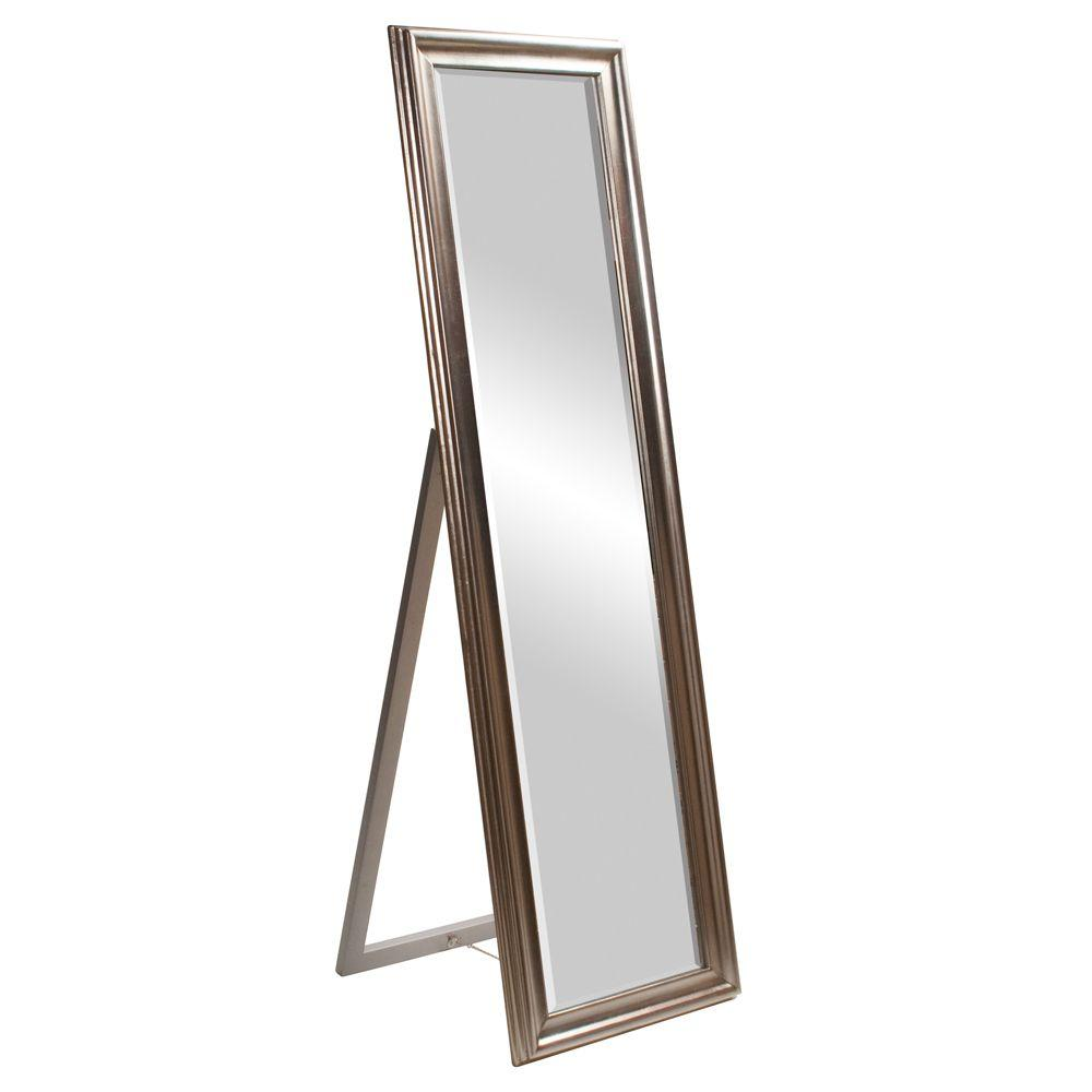 Standing Mirror 60 In X 20 In Silver Standing Wood Framed Mirror