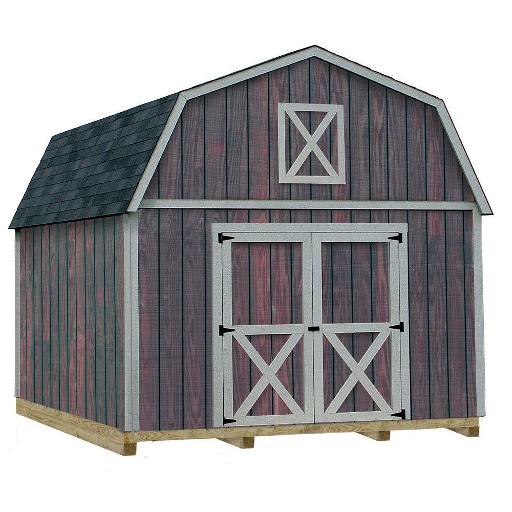 Home Depot Sheds For Sale Best Barns Denver 12 Ft X 16 Ft Wood Storage Shed Kit With Floor Including 4 X 4 Runners