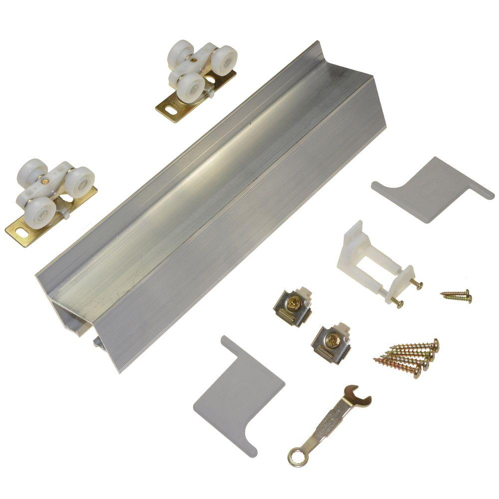 Johnson hardware 2610f series 72 in track and hardware set for wall mount sliding doors 2610f72h the home depot