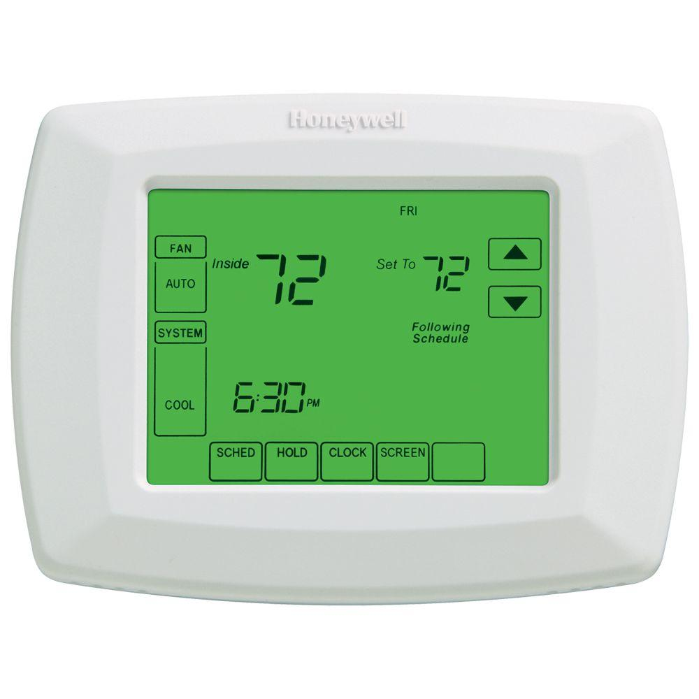 Honeywell Programmable Thermostat Honeywell 7 Day Universal Touchscreen Programmable Thermostat