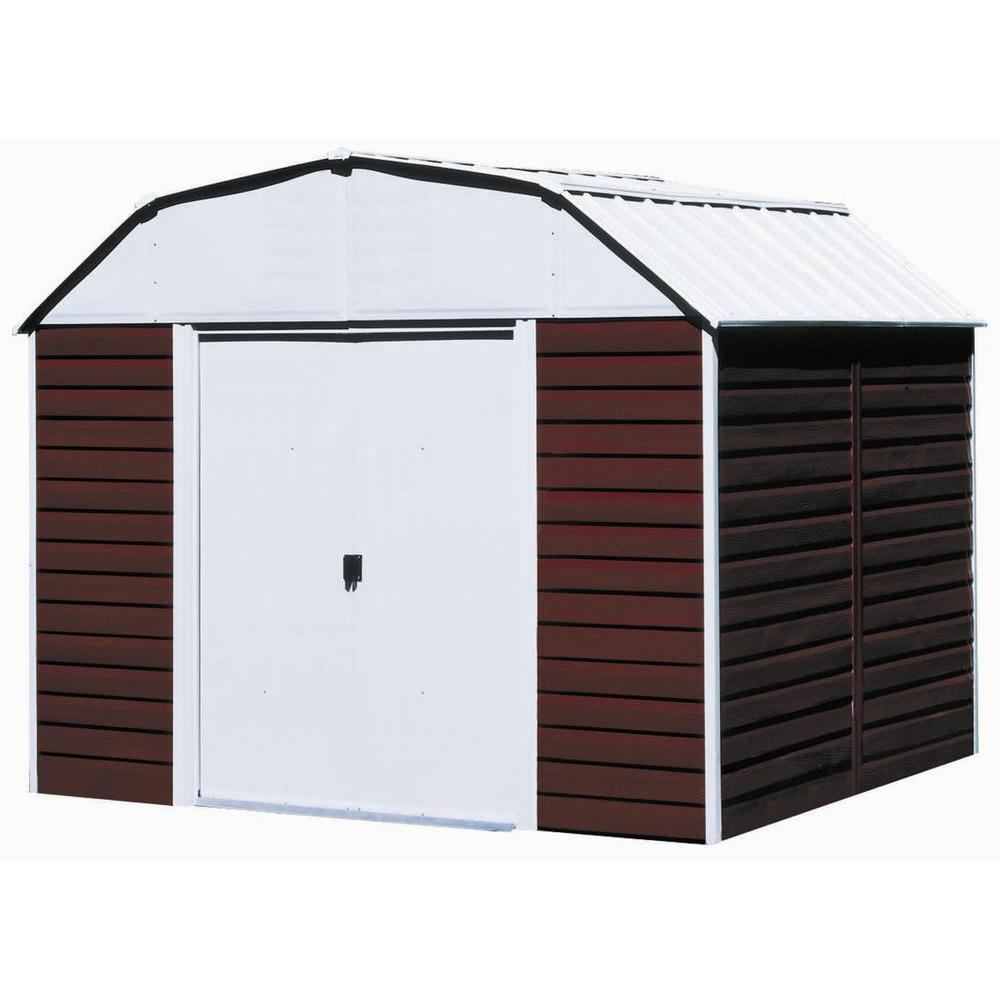 Barn Metal Arrow Red Barn 10 Ft X 14 Ft Metal Storage Building