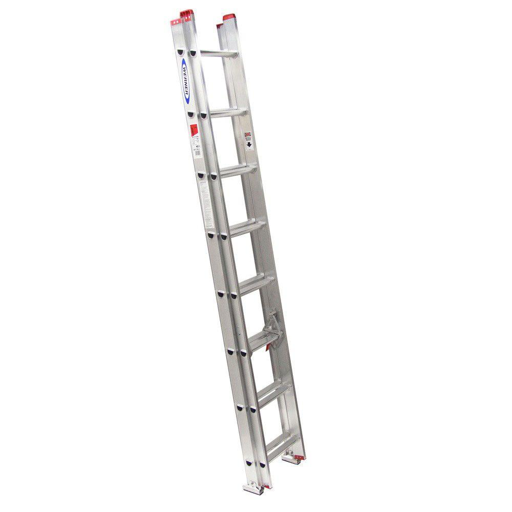 20' Ladder Home Depot Werner 20 Ft Aluminum Extension Ladder With 225 Lb Load Capacity Type Ii Duty Rating