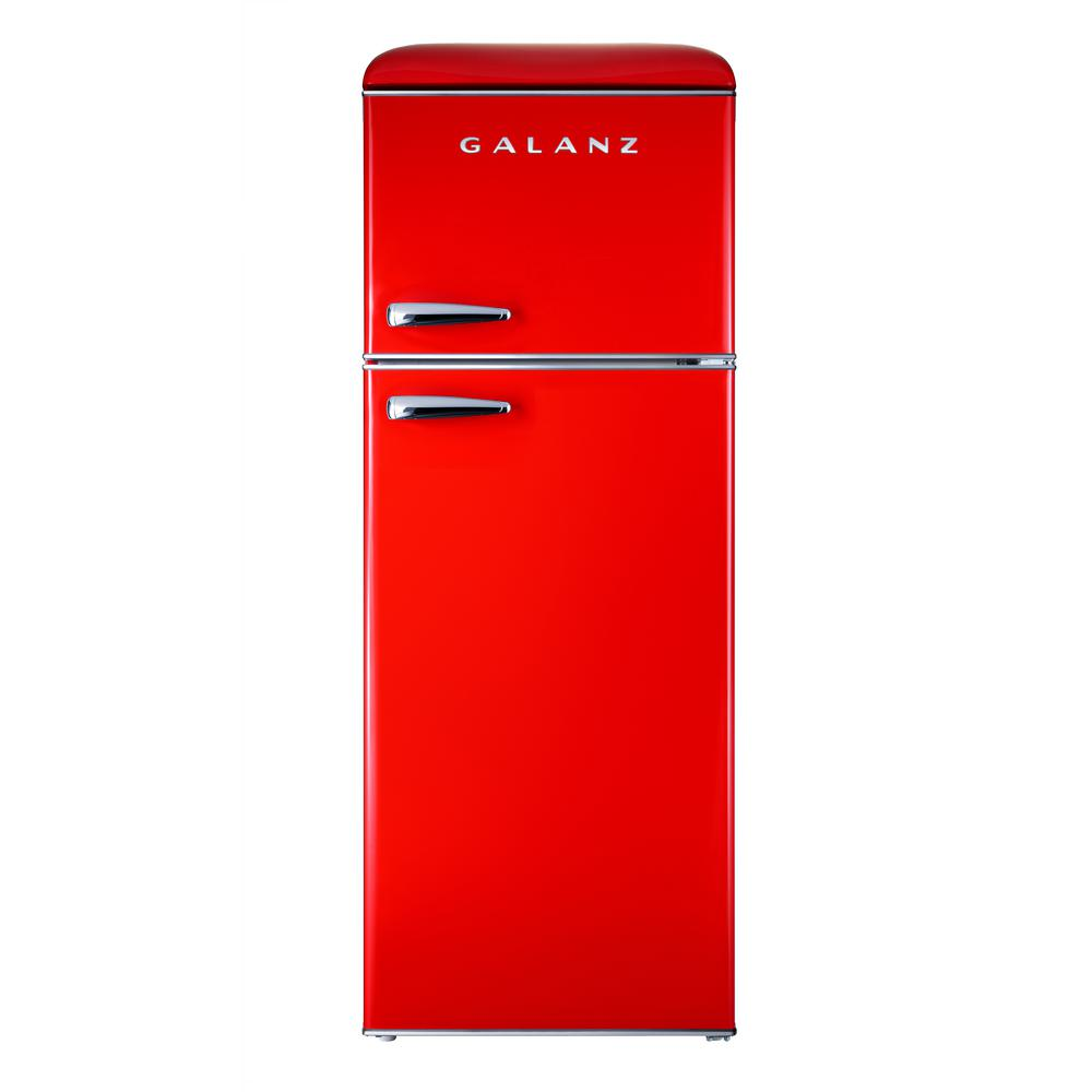 Home Depot Fridges Canada Galanz 7 6 Cu Ft Mini Retro Fridge In Red