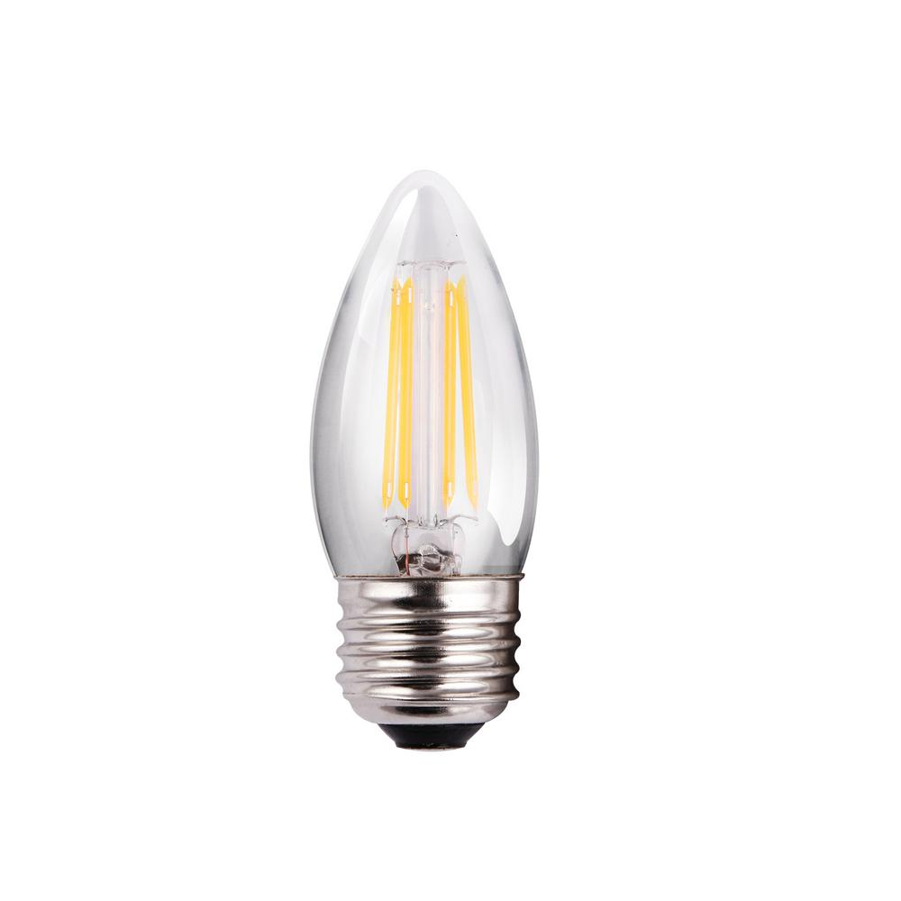 5 Watt Led Halco Lighting Technologies 60 Watt Equivalent 5 Watt B11 Dimmable Led Clear Filament Antique Vintage Light Bulb 2700k 85057