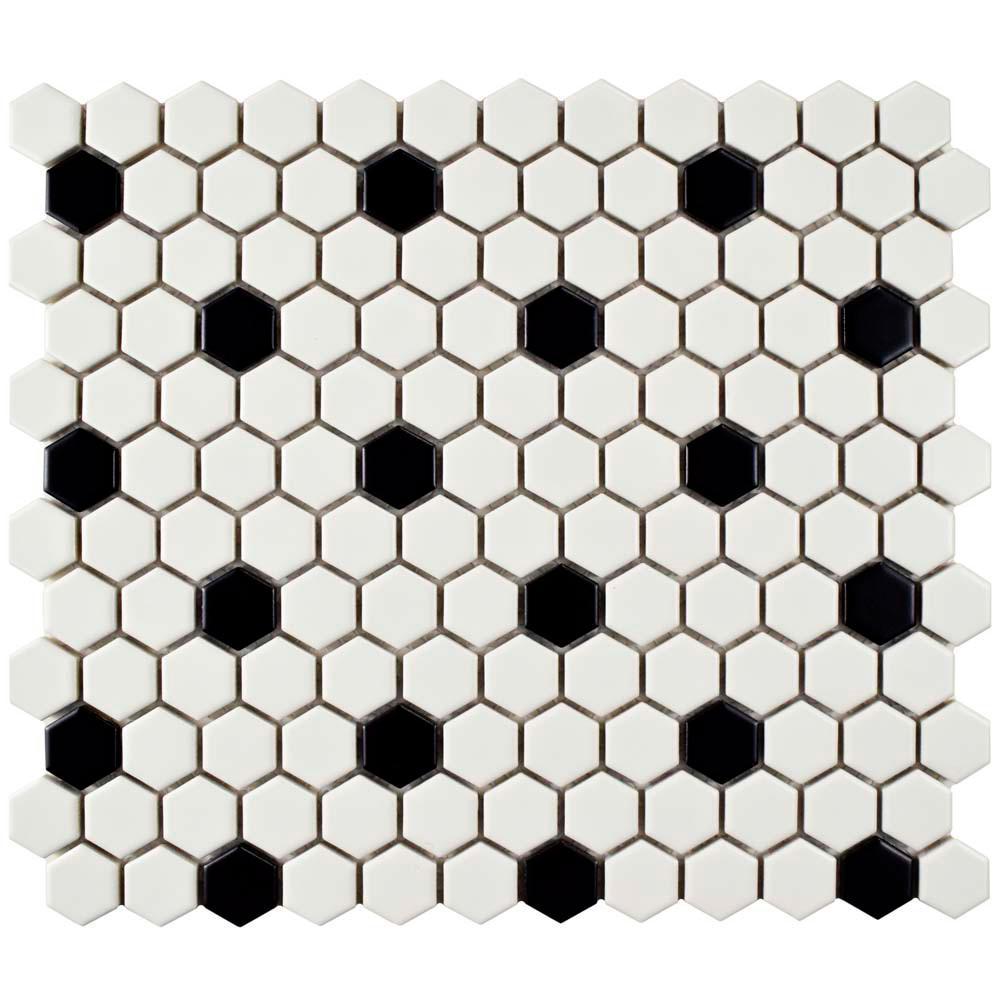 Fullsize Of Black And White Tile