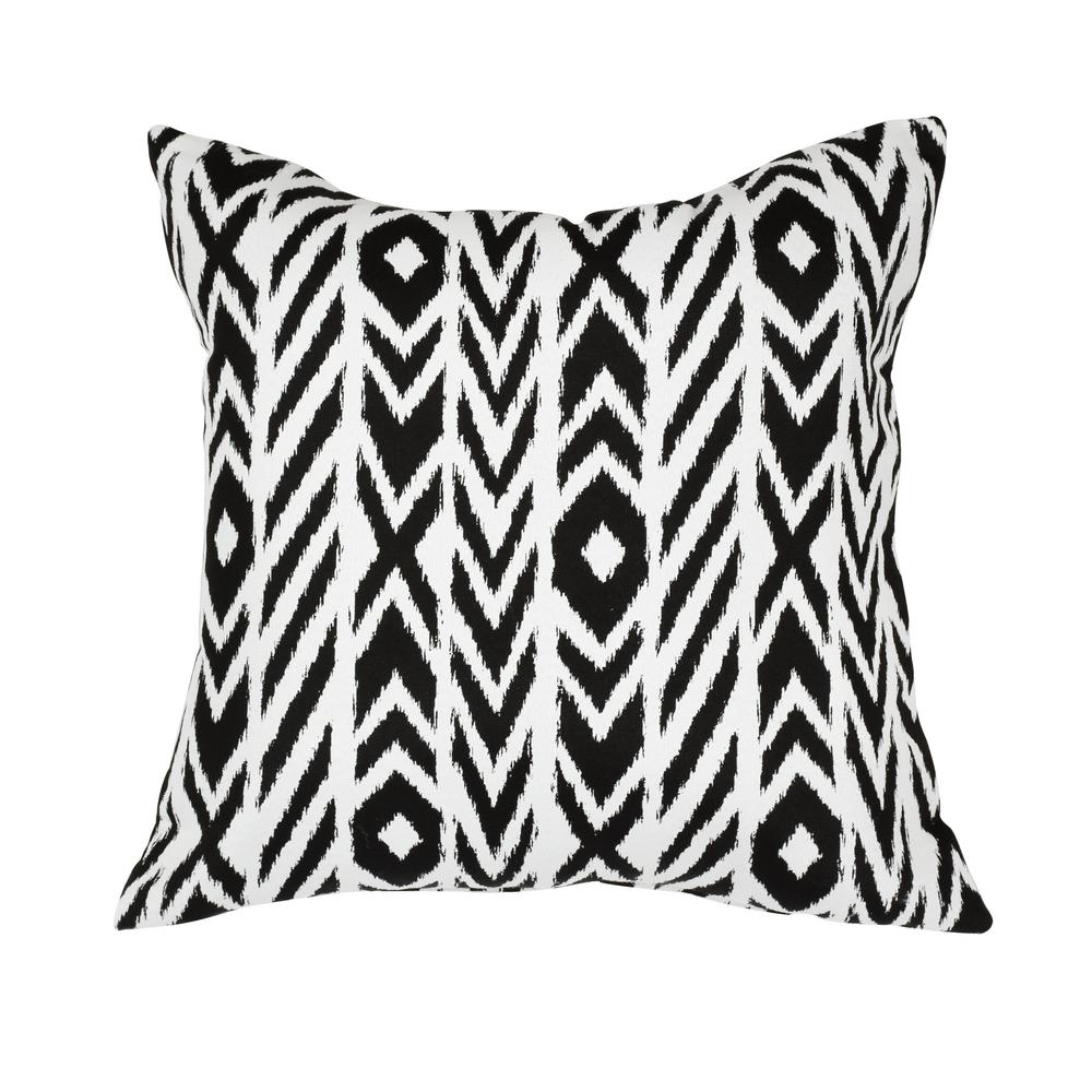 Lounge Throw Astella Fire Island Charcoal Square Accent Lounge Throw Pillow
