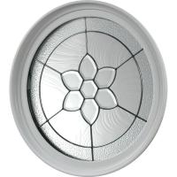 TAFCO WINDOWS 24.5 in. x 24.5 in. Round Geometric Vinyl ...