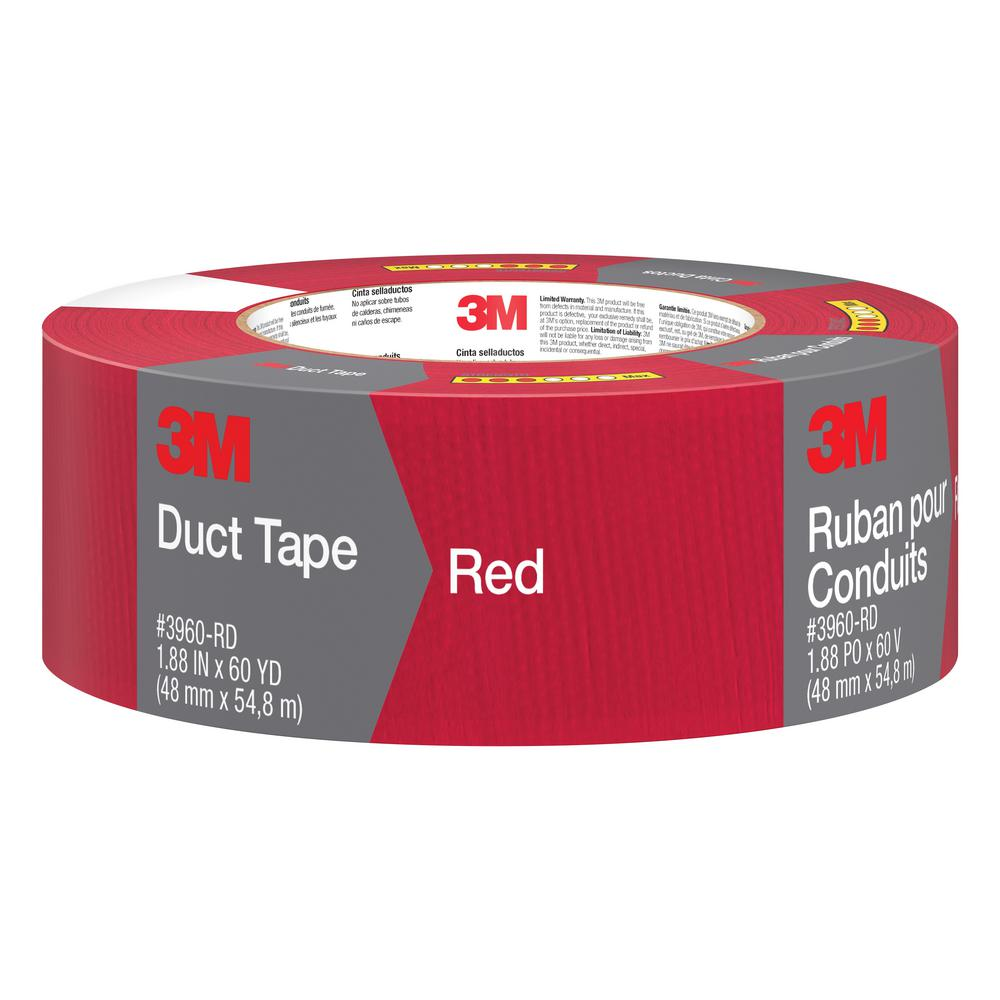 3m 3m 1 88 In X 60 Yds Red Duct Tape
