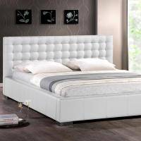 Baxton Studio Madison Transitional White Faux Leather ...