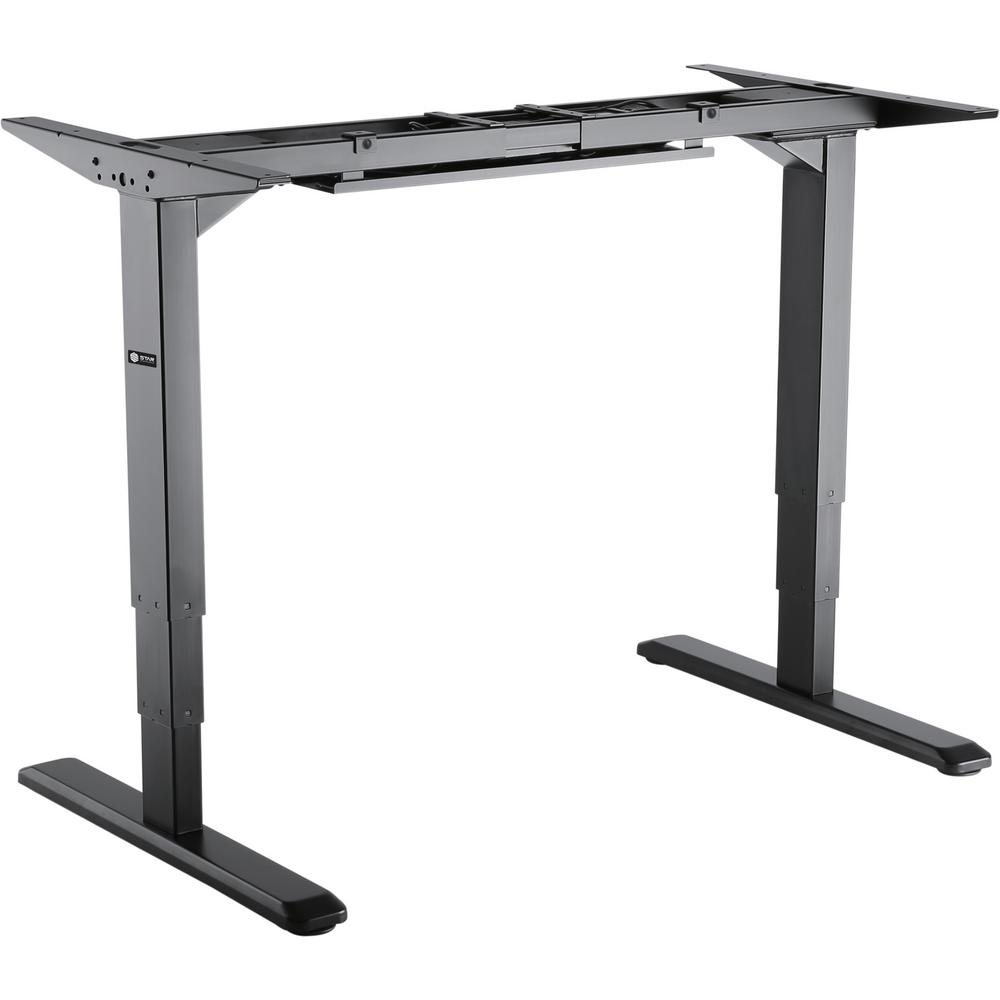 Sit To Stand Desk Star Ergonomics Black Electric Sit Stand Desk Frame 3 Stage Reverse Dual Motor Table Top Not Included