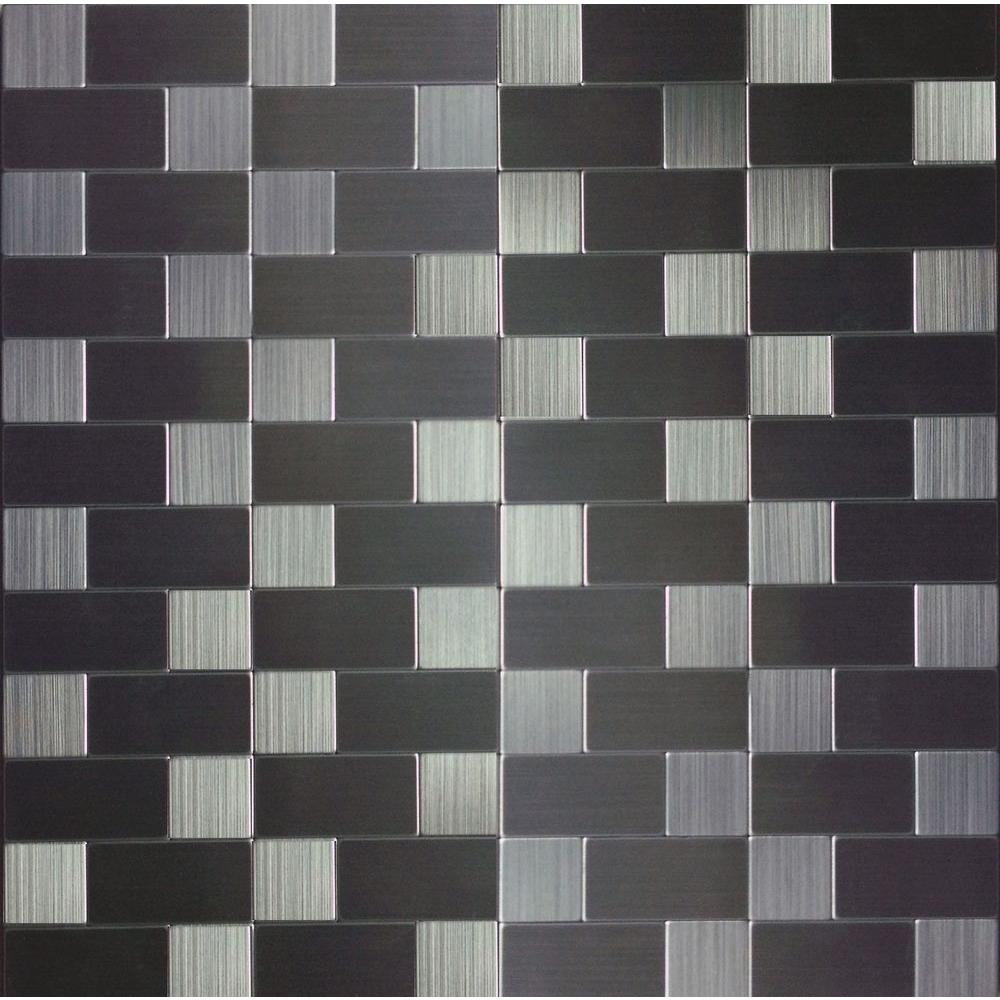 Kitchen Design And Tiles Instant Mosaic Peel And Stick Metal Wall Tile 2 In X 6 In Tile