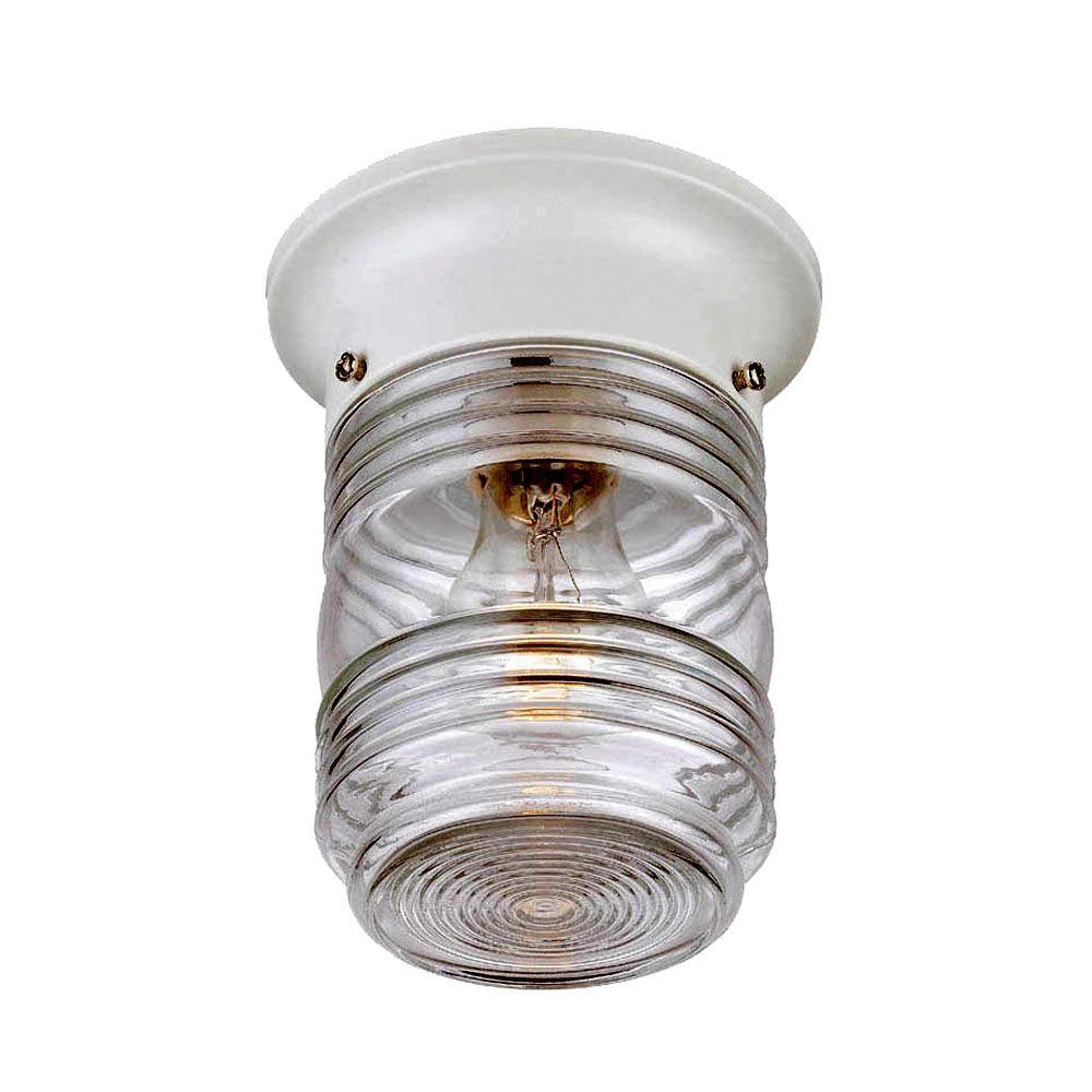 Lighting Fixtures Acclaim Lighting Builder S Choice Collection Ceiling Mount 1 Light White Outdoor Light Fixture