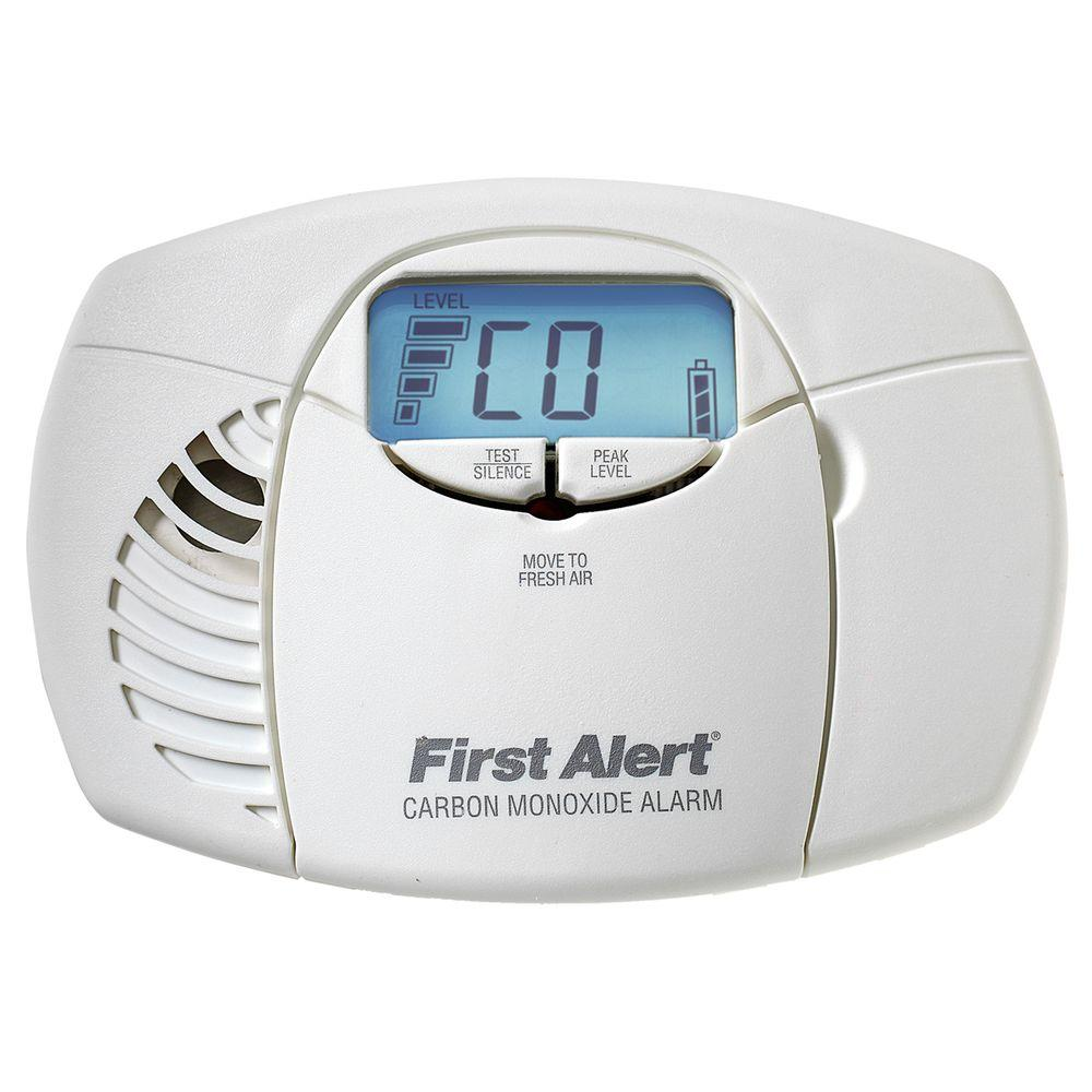 Battery Digital First Alert Battery Powered Carbon Monoxide Detector Alarm With Digital Display