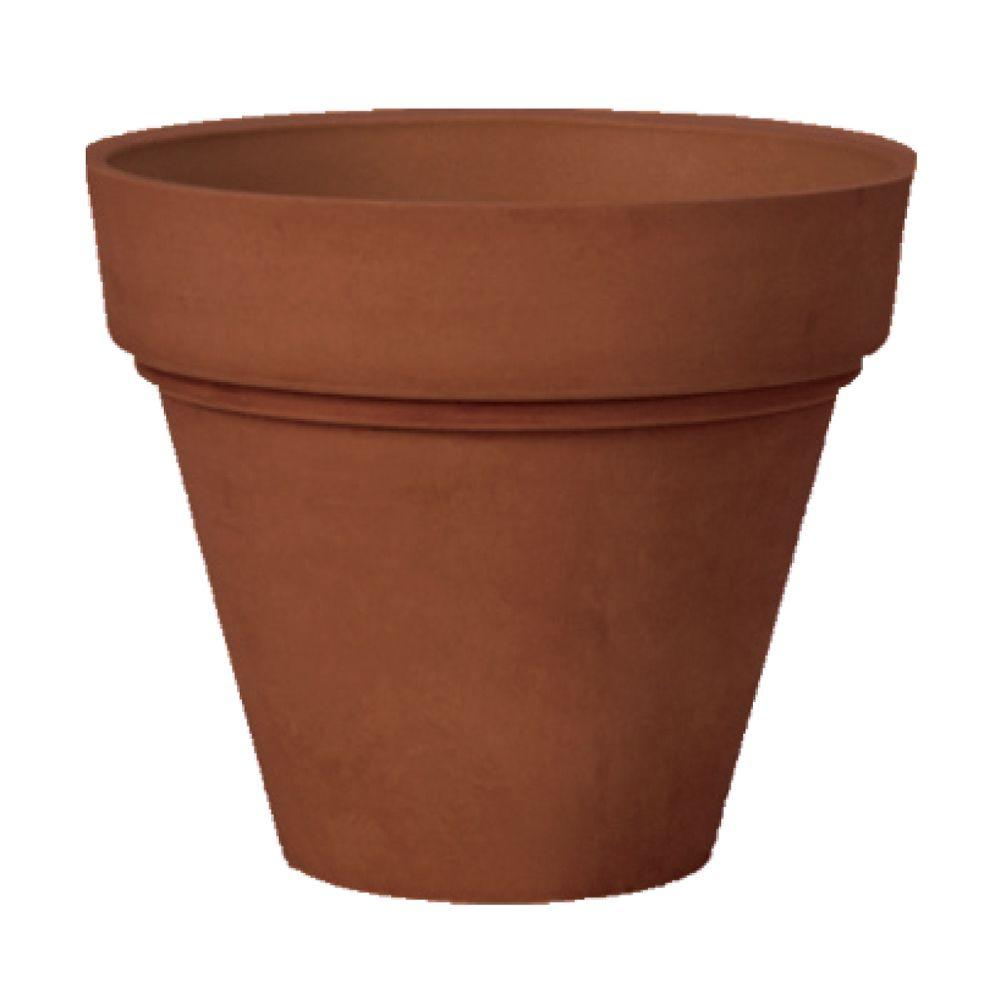 Large Garden Pots Arcadia Garden Products Traditional 25 5 In X 22 In Chocolate Psw Pot