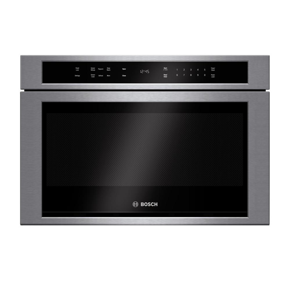 Bosch Microwave Bosch 800 Series 24 In 1 2 Cu Ft Built In Drawer Microwave In Stainless Steel With Sensor Cooking