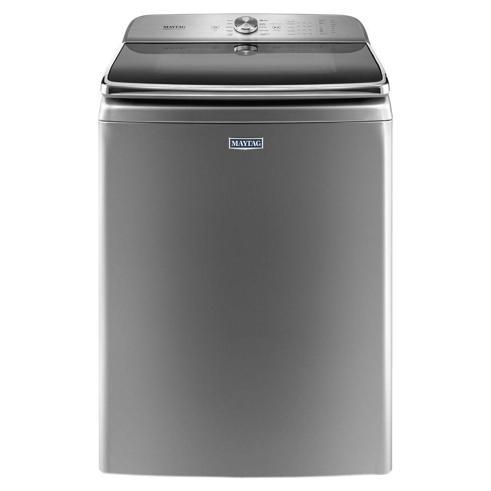 Maytag 6 2 Cu Ft High Efficiency Metallic Slate Top Load Washing Machine With Powerwash System - Top Loading Washers