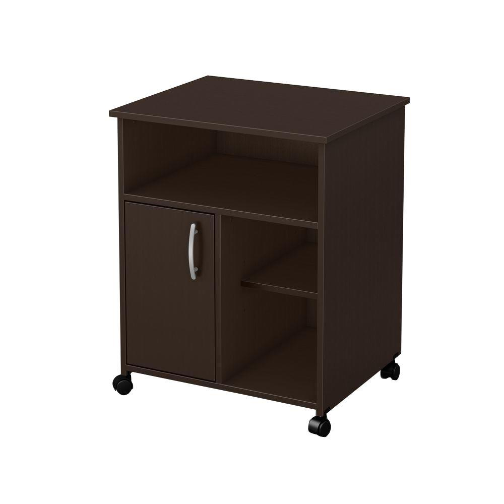 Jcpenney Furniture Kitchen Islands South Shore Axess Microwave Cart With Storage On Wheels Chocolate