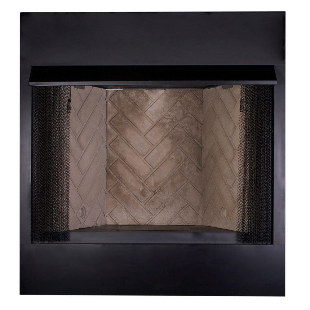 Glass Screen For Gas Fireplace 36 In Vent Free Firebox Insert