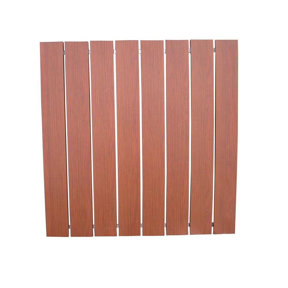 Decking Panels Dock Top Aluminum 4 Ft X 4 Ft Decking Section Brown Wood Grain