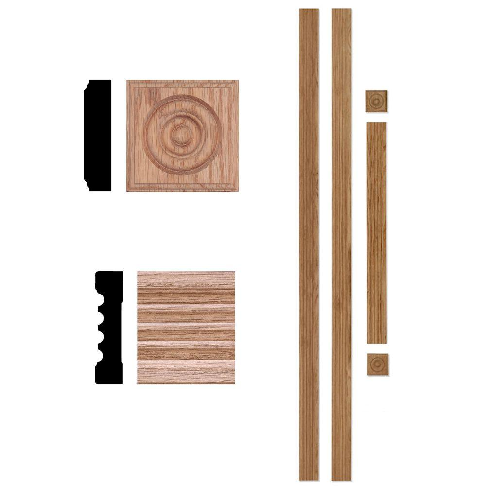 Home Depot Door Casing House Of Fara 5000 3 4 In X 3 In X 7 Ft Oak Door Trim Casing Set Up To 40 In X 84 In Opening