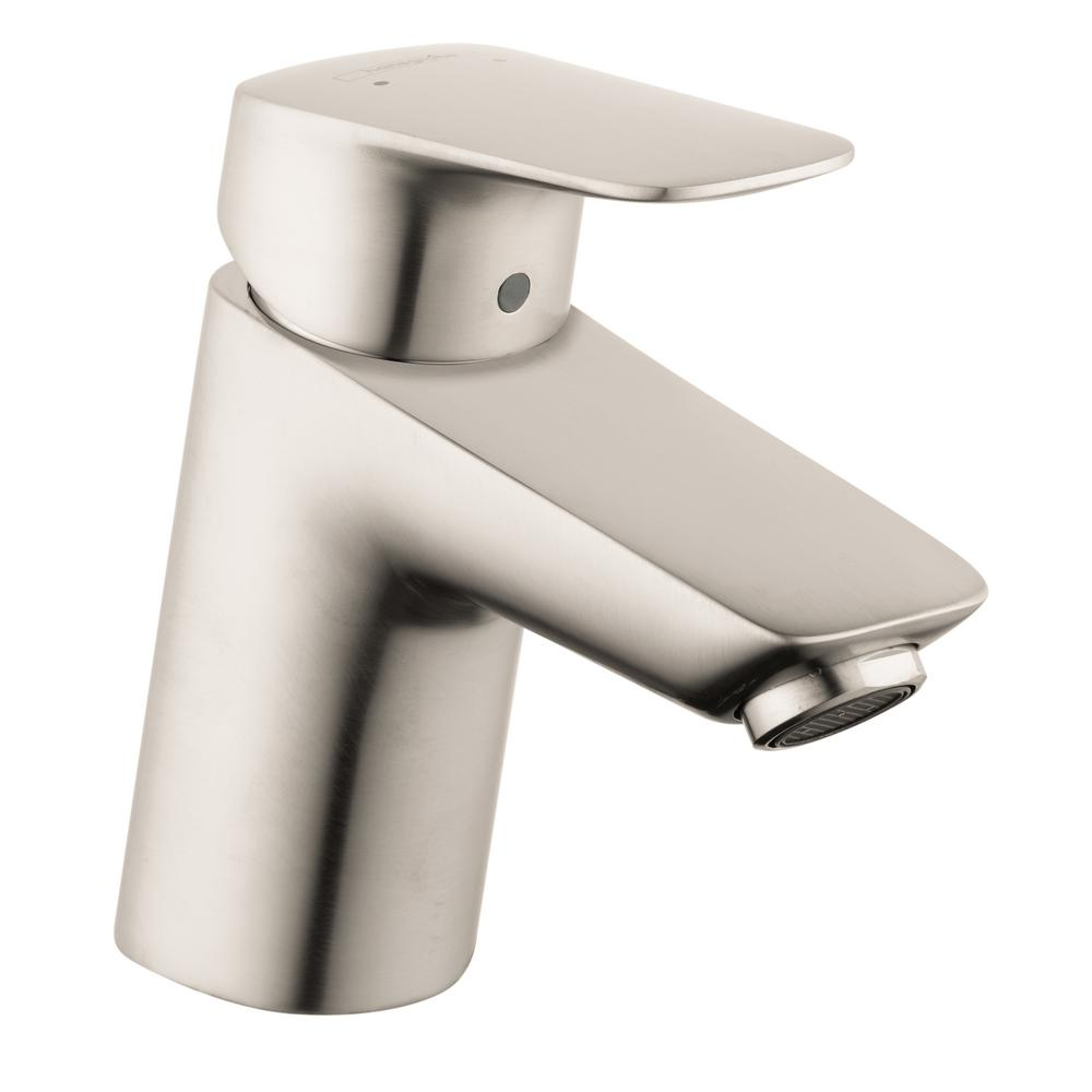 Hans Grohe Hansgrohe Logis 70 Single Hole Single Handle Bathroom Faucet With Drain In Brushed Nickel