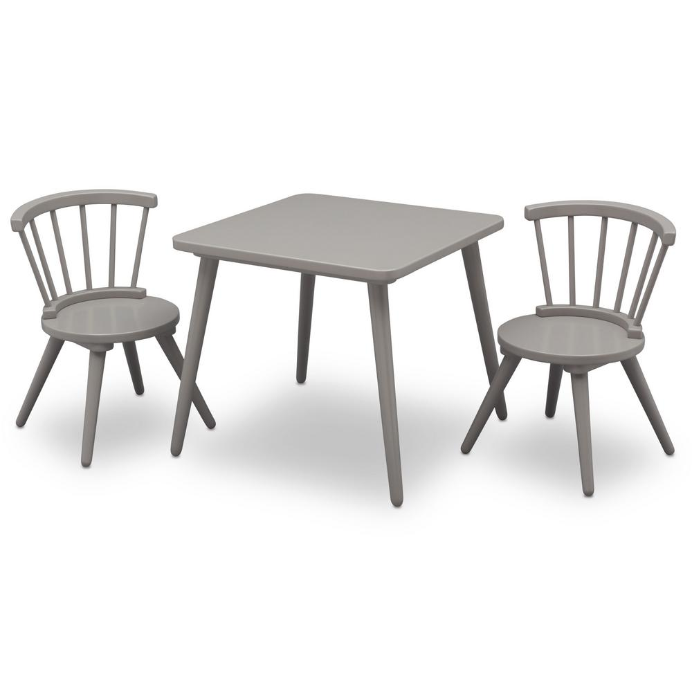 Childrens Table And Chair Set Delta Children Grey Windsor Table And 2 Chair Set
