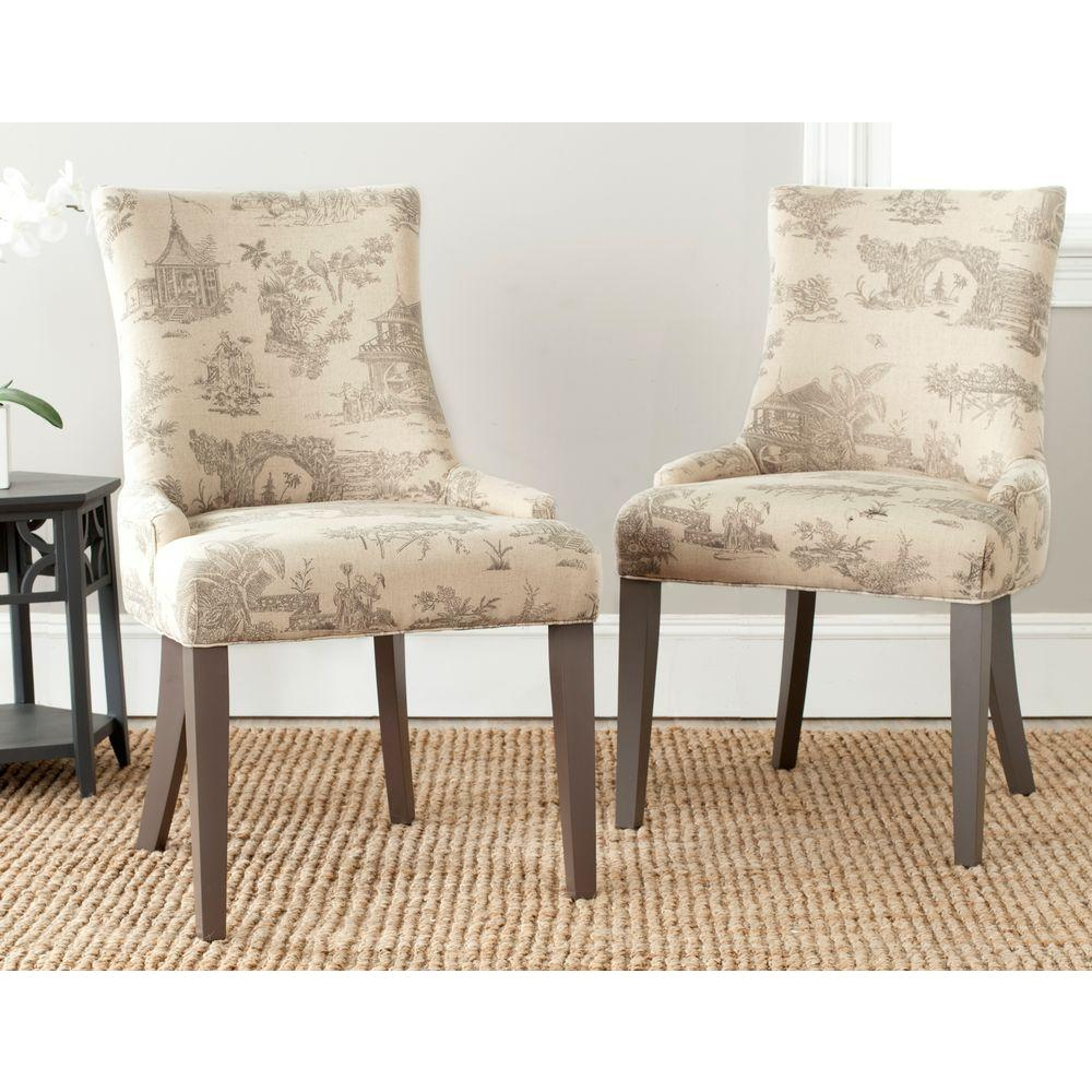 Sessel Taupe Safavieh Lester Taupe Cotton/linen Dining Chair (set Of 2